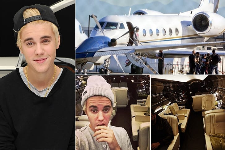 Aereo Privato Justin Bieber : Fancy yachts and jets owned by celebrities worldation