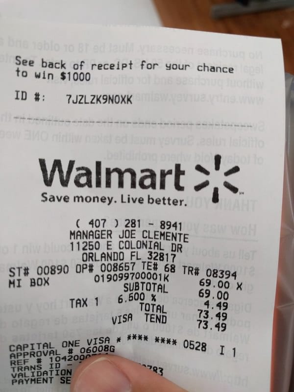 after checking her walmart receipt this woman made a surprising
