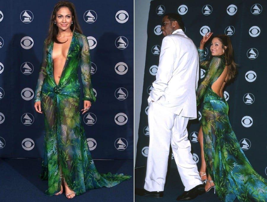 Celebrity barely there dresses jennifer lopez