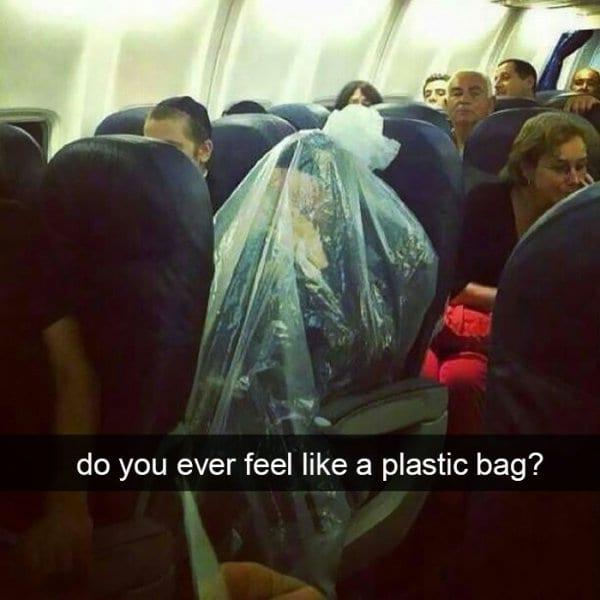 Extremely Amusing Photos Taken In Planes