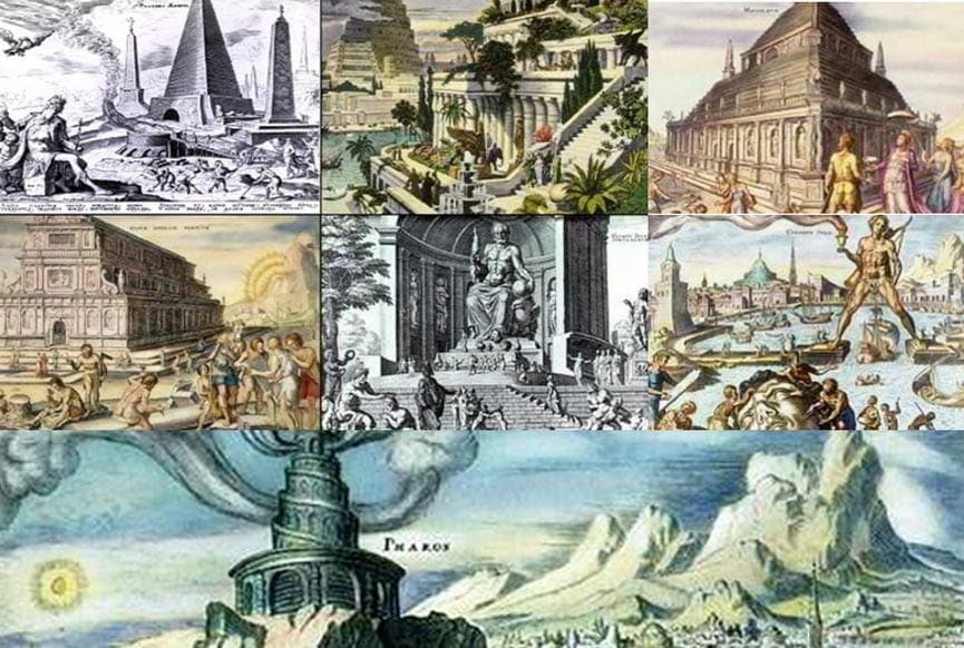 7 ancient wonders of the world pictures and information