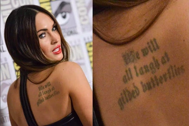 a14aa455c Celebrity Tattoos you didn't know existed | Worldation