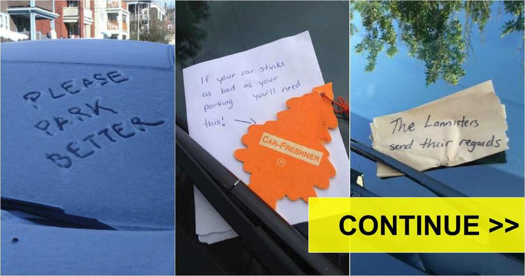 the funniest and most creative windshield notes ever left