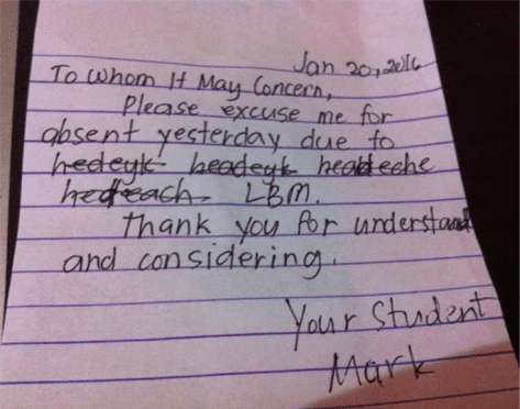 Most Hilarious And Ridiculous Absence Notes Ever Worldation