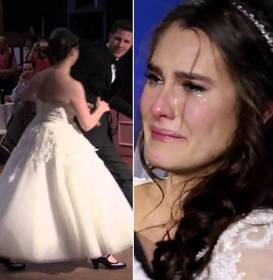 Bride Thinks Her First Dance Is Ruined, But Has A Tearful
